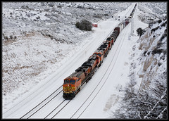 Untitled  [Explored] (K-Szok-Photography) Tags: california snow canon outdoors trains socal transportation 5d canon5d ge canondslr bnsf cajon inlandempire cajonpass sbcusa kenszok trainsinaction kszokphotography