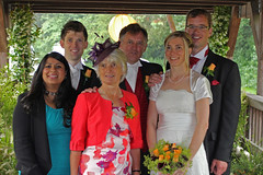The Bride's Immediate Family (Bob Rodwell) Tags: chris dan bob jo judy seema