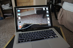 Macbook Hologram (AndersHolvickThomas) Tags: santa funny joke sony hologram cruz trick macbook nex5 vigilantphotographersunite
