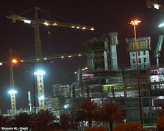 Under Construction (Hosam AL-Hwid) Tags: street building night lights construction sony main under ring east saudi arabia a77 2013 hosam alhwid