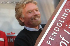 T001-00276 (railphotolibrary.com) Tags: england people man male liverpool europe ceremony virgin event richard sir branson nameplate naming pendolino uk1 entraprenour