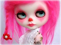 Blythe Custom Pink Clown para Alcione