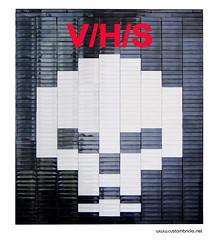 V/H/S (customBRICKS) Tags: movie skull dvd lego bricks plate cover horror tapes vhs moc