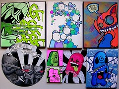 Art (PSYCO ZRCS 10/12) Tags: street art switch artist hand mr paintings vinyl drawings canvas artists doubt drawn bot spud uwp ticky lisk kamz