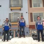 Sun Peaks Van Houtte Slalom - U18 Podium - Brodie Seger 1st, Martin Grasic 2nd, Blake Ramsden 3rd PHOTO CREDIT: Brandon Dyksterhouse