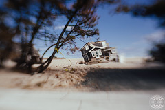 House Alone After Sandy (lily.szabo) Tags: wood house blur beach home lensbaby newjersey sand ruins destruction nj shore ruined destroy lightroom vsco