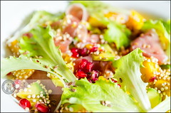 Bon apetit | Fresh salad (Cristian Sabau | Photography) Tags: light food kitchen photography avocado daylight salad nikon europe flickr pomegranate tasty fresh seeds delicious homemade mango romania ingredients panceta freshfood trnasylvania