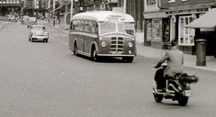 Maidstone, Kent, 3 August 1958 (allhails) Tags: bus kent scooter lambretta maidstone dj17 dj17cu