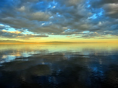 Back to the Salton Sea (TheJudge310) Tags: california sunset usa lake seascape water landscape canonpowershots100 saltonseabeach