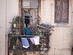 La Habana : Urban Decay (!Michel Grenier!) Tags: people urban balcony urbandecay havana cuba smoking caribbean cuban balcon urbain lahabana caraïbes pauvreté havane havanais lumixgvario100300f4056 olympusem5