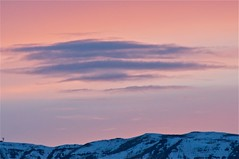Sky at Sunset over mountain range. (Idahoeyes) Tags: sky march spring raw idaho skyandclouds paintedsky skyatsunset mostlysky nikond90 justsky sharonwatson skyovermountains