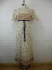 "1970s Vintage Delicate Floral Summer Maxi Dress • <a style=""font-size:0.8em;"" href=""http://www.flickr.com/photos/92035948@N03/8550672759/"" target=""_blank"">View on Flickr</a>"
