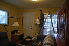 David working on the front room (trish.brewer) Tags: campus triangle indianapolis duplex
