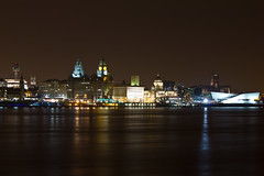 Liverpool skyline at night (Paul Farrell 2013) Tags: skyline liverpool maritime threegraces liverbuildings rivermersey liverpoolmuseum cunardbuilding