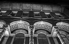 Pillars + Arches (The steelyglint) Tags: city windows blackandwhite building london stone architecture nikon walks londonbynight arches tiles pillars dlsr nikond40