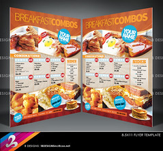 Menu Flyer Template (B DESIGNS INC) Tags: food dive cook diner drivein professional clean chef simple catering specials combos combinations foodmenu lunchmenu takeoutmenu breakfastmenu menuflyer