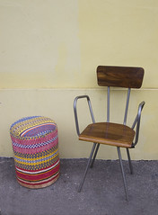 Cloth-Covered Stool (Like That One) Tags: colorful cheerful stool pouf bohochic