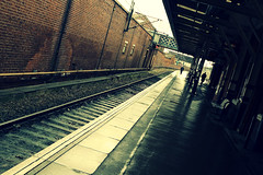 Platform 1 [74/365] (Nomis.) Tags: travel winter travelling wet oneaday rain station weather sign wall walking lumix one 1 march spring chair track walk crossprocess seat yorkshire transport platform tracks rail railway passengers panasonic railwaystation rainy trainstation crop transportation photoaday figure passenger 365 railways figures railwaytrack connection day74 eastcoast interchange pictureaday doncaster southyorkshire railwaytracks eastcoastmainline platform1 project365 platformone lx3 project36574 doncasterrailwaystation day74365 3652013 ipiccy 365the2013edition 15mar13 project365031513 project36515mar13 crossprocesscpbasic cpbasic