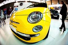 Hi !!! (koolandgang) Tags: hello car yellow fiat fisheye hi 500 homeboy 16mm d700