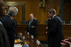 "Senator Coons at a committee hearing on Immigration • <a style=""font-size:0.8em;"" href=""http://www.flickr.com/photos/32619231@N02/8581391026/"" target=""_blank"">View on Flickr</a>"