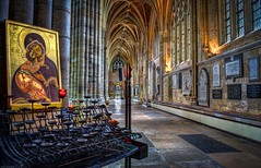A Moment (pirate057) Tags: uk england architecture choir candles cathedral unitedkingdom gothic norman devon exeter bishop anglican votive georgegilbertscott saintpeter johnloughboroughpearson thomasofwyttenaye