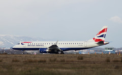 British Airways ERJ-190 (FuriousGM) Tags: uk sky cloud weather plane airplane scotland flying airport glasgow aviation transport aeroplane civil commercial airline ba britishairways airliners 190 gla embraer baw erj erj190 glasgowairport civilaviation egpf glcyk