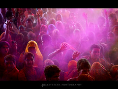 Untitled 1 - Rajasthan, 2013 (Jayati2009) Tags: pink india colors yellow festival women holi jaipur rajasthan jayatisahaphotography