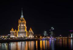 Radisson Royal Hotel (Syuqor7) Tags: longexposure light summer beautiful night amazing russia moscow slowshutter lighttrail