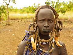 Mursi Woman (Ethiopia) (davidevarenni) Tags: etiopia ethiopia tribe trib mursi