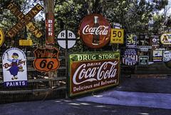 Sedona's color splash (TAC.Photography) Tags: signs coloredsigns sedonagiftshop cocacola dutchboy beer speedlimit