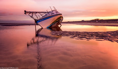 Meols Beach (6 of 7) (andyyoung37) Tags: beech meolsbeech merseyside reflections silhouette sea seaside sky sunrise thewirral meols england unitedkingdom gb