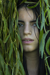 Salice (Emily D'Isanto) Tags: nature girl woman green ermione photo photography lady willow crying preraphaelite