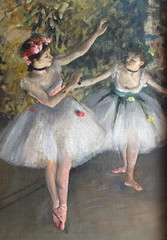 Two Dancers on a Stage (detail) (Snapshooter46) Tags: twodancersonastage balletdancers frenchimpressionism edgar degas oilpainting courtauldgallery artgallery somersethouse london artwork