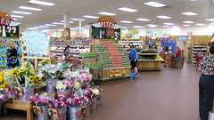 Trader Joe's (Coyoty) Tags: traderjoes westhartford connecticut ct market supermarket food products merchandise retail store multicolor colors shopping flickrfriday brown white flowers selling people depthoffield depth dof signs
