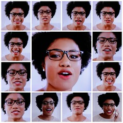 Screen Grab Collage (~nevikk~) Tags: screengrab facialstudy afroamerican eyeglasses singer lively advertisement kevinkelly commercialjingle