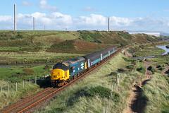 37402 High Sellafield 10th September 2016 (John Eyres) Tags: 37402 approaching sellafield with 2c34 1433 carlisle barrowinfurness 100916 cumbrian coast drs
