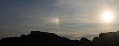 Sun dog over the Black Rock (Fife walking) Tags: sea kinghorn fife fifecoast blackrock burntisland scotland coastal sundog