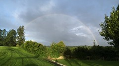 Rainbow Brite - County Clare - Ireland - September 2016 (firehouse.ie) Tags: fantasticnature scenery clouds cloud green greenery clare mythical legendary full somewhere finians crockogold darbyogill ireland 2016 september landscape sky colours colors light weather rainbows rainbow