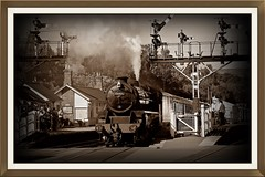 Age of steam. (stu.bloggs..Dont do Sundays) Tags: steamengine steam locomotive loco engine grosmont northyorkshire northyorksmoors summer august 2016 train station signals sunny sunshine railway nymr