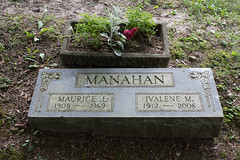 Maurice J. and Ivalene M. Manahan (marylea) Tags: 2016 aug11 cemetery grave highlandviewcemetery bigrapids michigan mecostacounty genealogy family history historical research manahan graves mecosta marker gravestone headstone genealogyinformation genealogyinfo