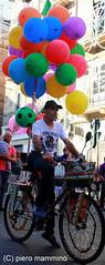Palermo _ Selling balloons on a bike (piero.mammino) Tags: sicilia sicily palermo festa palloncini balloons bike bicicletta bici vendere sell selling feast colori colors ngc flickrsicilia