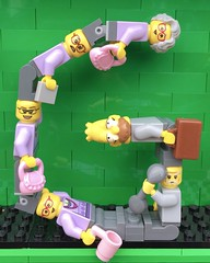 G (Laurene J.) Tags: lego bricksbythebay bbtb2016 minifigurealphabet minifigure minifigs legoalphabet alphabet pilobolusalphabet pilobolus lettering bbtb 2016 bricksofcharacter grandparents