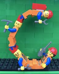 C (Laurene J.) Tags: lego bricksbythebay bbtb2016 minifigurealphabet minifigure minifigs legoalphabet alphabet pilobolusalphabet pilobolus lettering bbtb 2016 bricksofcharacter emmett constructionworker