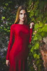 Woman in Red (mariosikora_cz) Tags: model gilr czechgirl fashion glamour portrait portrt foto fotografie fotograf modelka esk fotka emoce napt emotions red redhead freckles topmodel mariosikoracz best photoshooting
