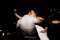 The Big Day (JustCallmeAV) Tags: wedding portrait sparklers evening purple love wins nyc female water hudson river