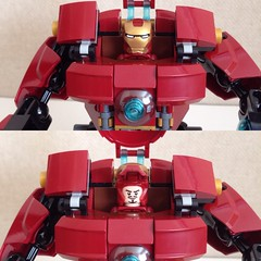 Hulkbuster closeup (nz-brickfan) Tags: lego hulkbuster ironman suit mech marvelcomics tonystark afol toy