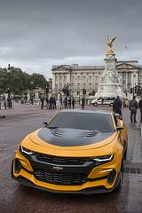 Chevrolet Camaro 'Bumblebee' - Transformers filming (S.L.R) Tags: buckingham palace london chevrolet camaro bumblebee transformers filming yellow car michaelbay movie thelastknight uk