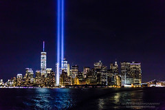 Tribute of Light, September 11, 2016 (Saurav Pandey) Tags: 911 manhattan manhattanskyline newyork buildings city clouds cloudy column eleven memorial newyorkcity night nineeleven outdoor reflection rememberance searchlights september sky skyline tribute tributeinlight urban worldtradecenter unitedstates us