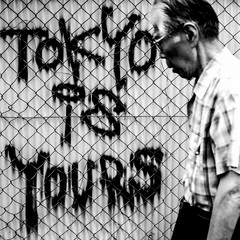 tokyo is yours (MdKiStLeR) Tags: bw street urban candid movment graffiti art irony tokyo japan asia tokyoisyours 2016 mdkistler copyrightmichaelkistler