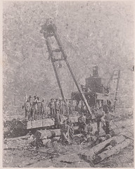 4 drum skidder, Slagle, La. 1924 (Vernon Parish Library) Tags: slaglela sawmills skidder lumbering logging